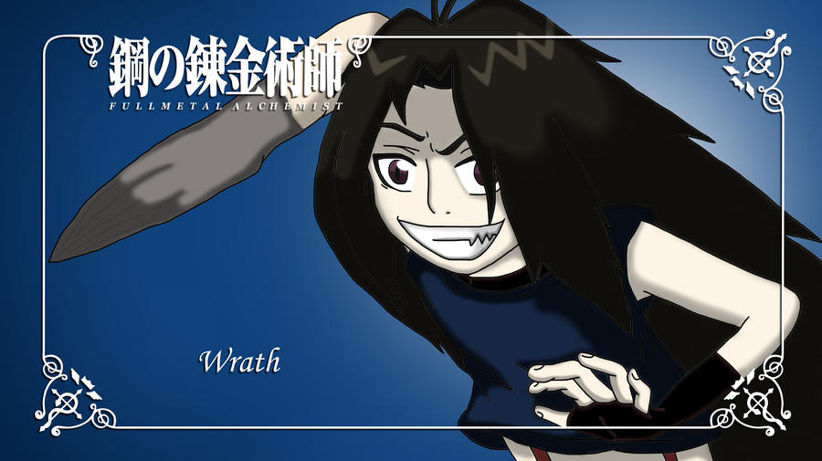 FMAB Namecard Wrath By Angel Sweetheart
