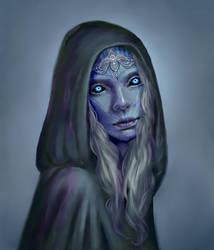 Night's Queen Portrait by ElleAnn