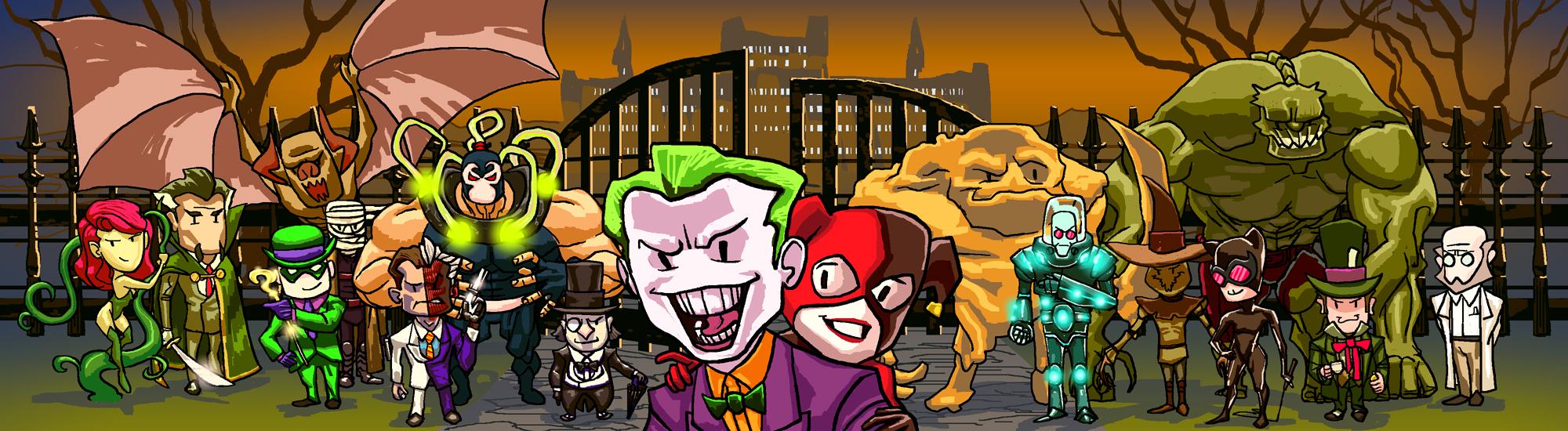 DC Scribble Arkham Asylum Breakout by jokoso