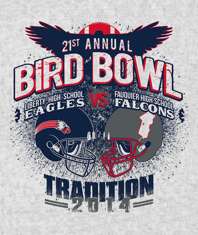 T Shirt Artwork for Bird Bowl 2014 by jokoso