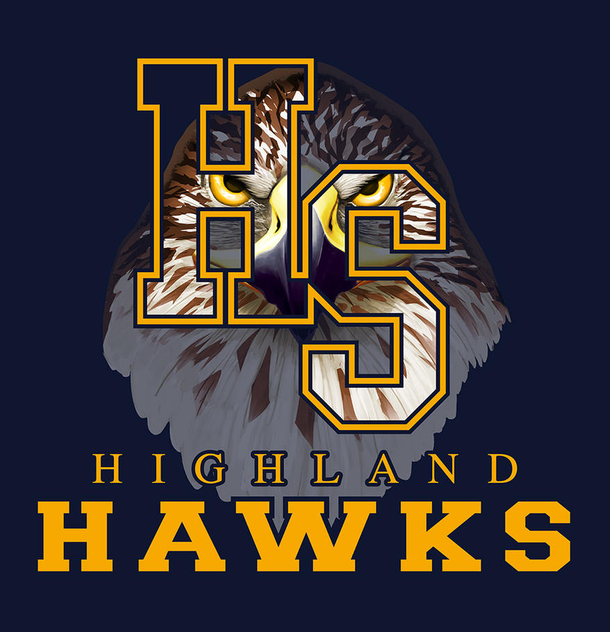 T Shirt Artwork for Highland Hawks by jokoso