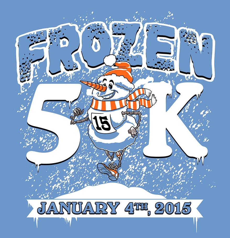 T Shirt Artwork for Frozen 5k 2015 by jokoso