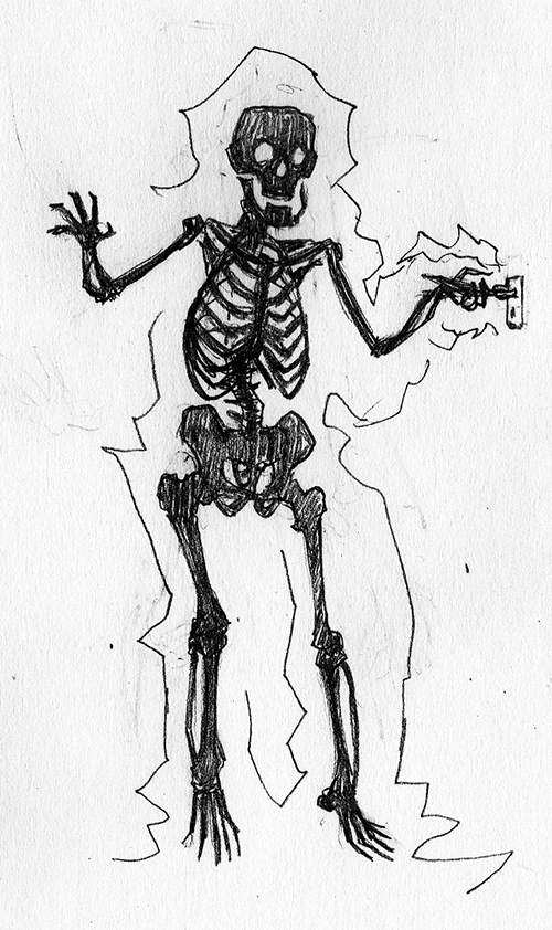 Skeleton Drawlloween by jokoso