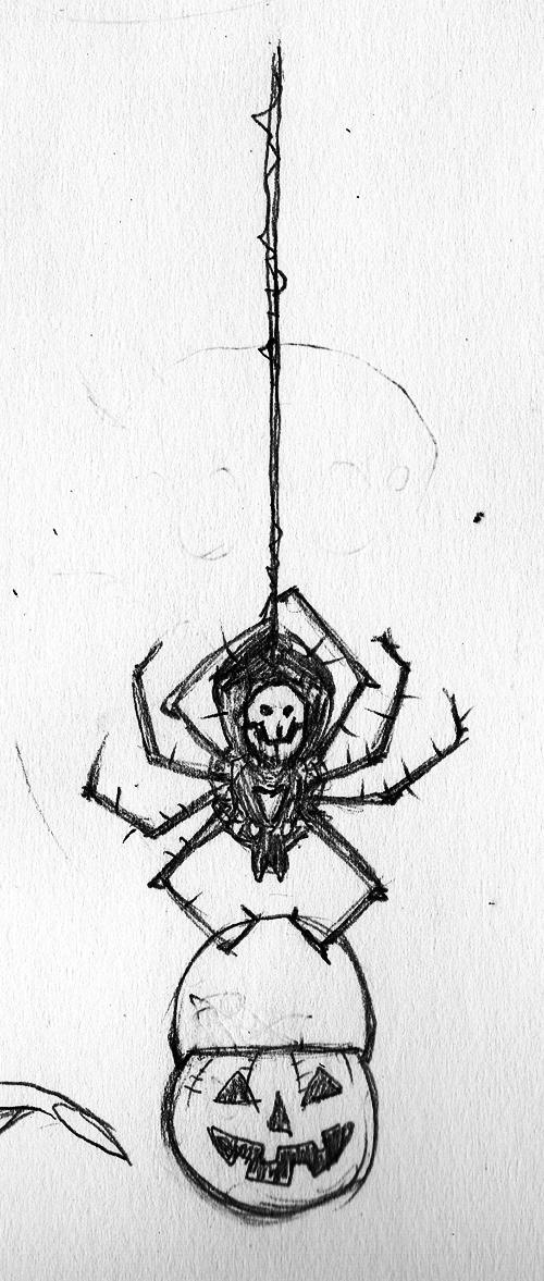 Spider Drawlloween by jokoso