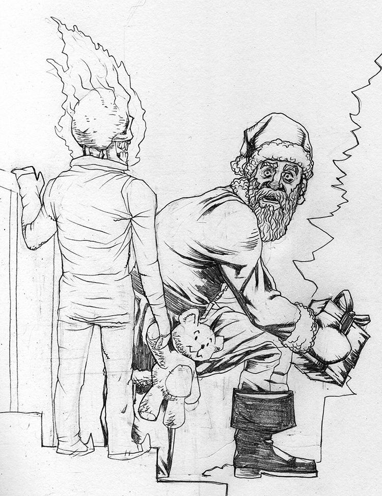 Drawlloween 2017 Day 22 Ghast Christmas by jokoso