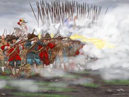 Danish pike and shot in the battle of Nyborg 1659