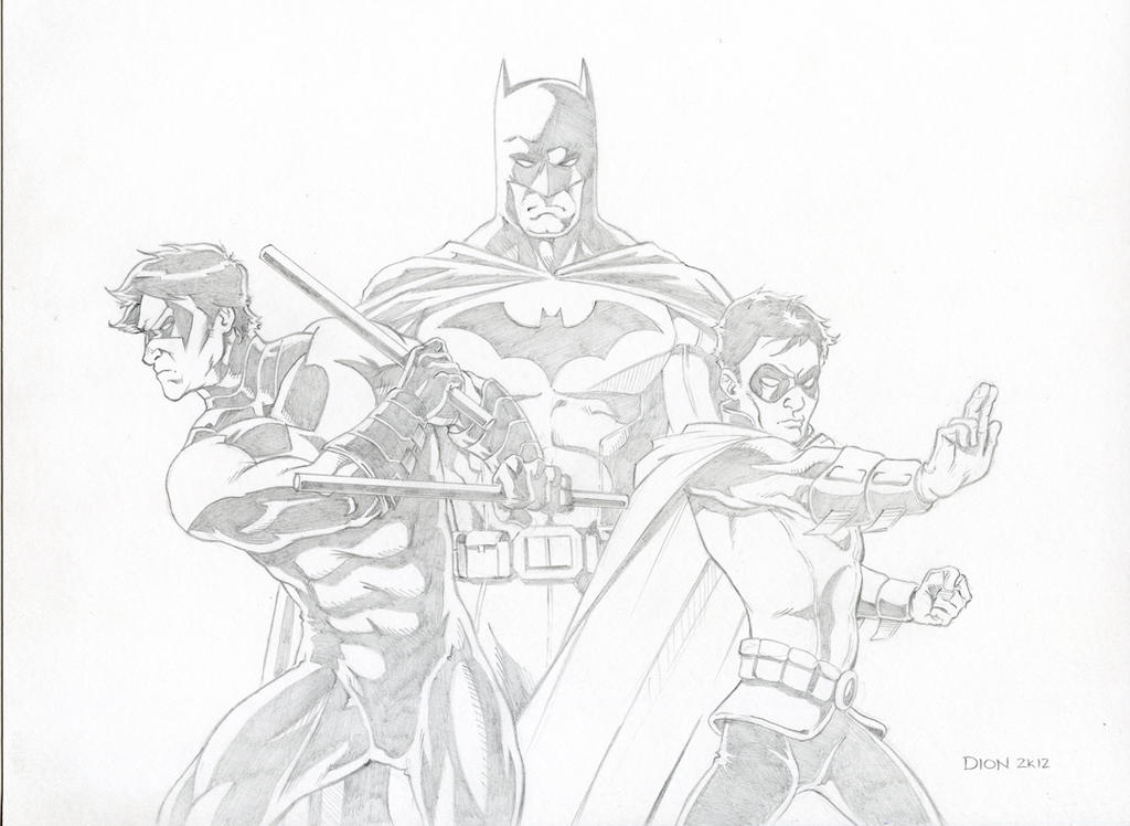 Drawings Of Nightwing And Robin Batman, nightwing, robin by