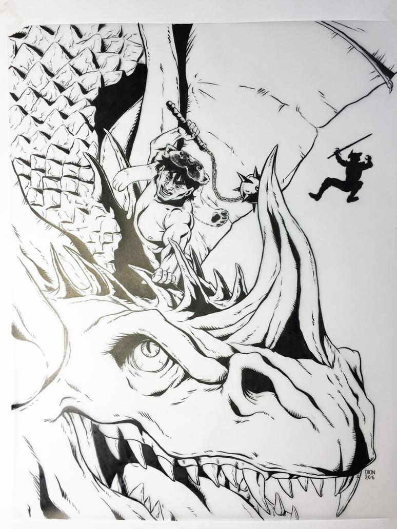 GB slays the dragon by glennsapien