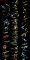 3D-CG  54 Dinosaur collection