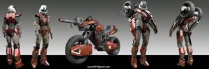 VR-038 Robotech Mospeada Robot Armour by RyanZ720