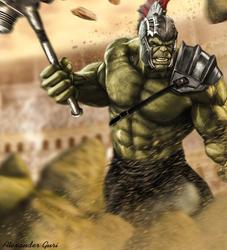 Gladiator Hulk (Thor Ragnarok) by Alex521Guri