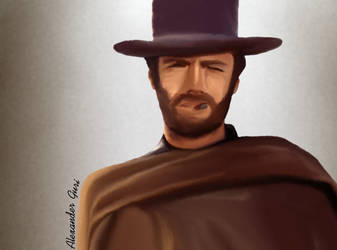 Clint Eastwood Quick-Drawing by Alex521Guri