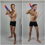 Male Reloading Pistol Pose