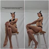 Female Demon Sitting Low Angle Pose