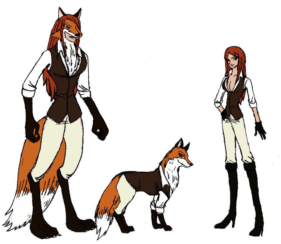 Kitsune fox forms sketch by supermario228 on DeviantArt
