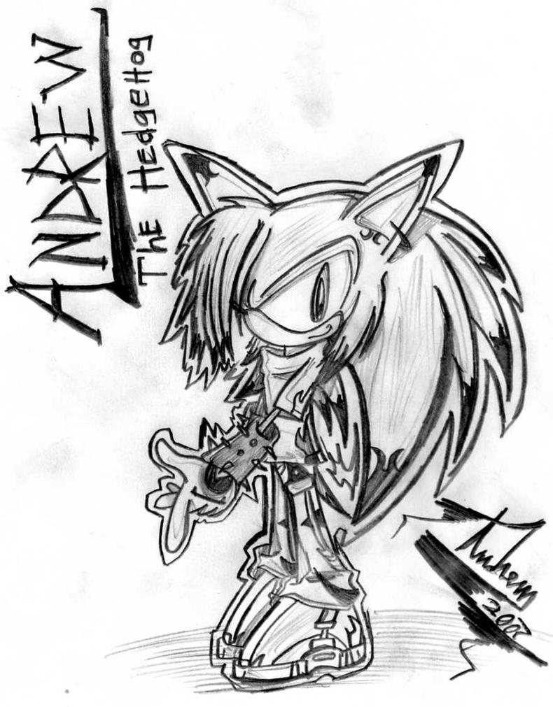 -::Andrew The Hedgehog::- by sonichero360