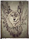 Native Wolf Sketch