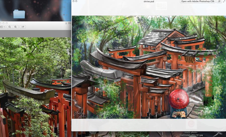 Japanese Shrine by ikuhrus