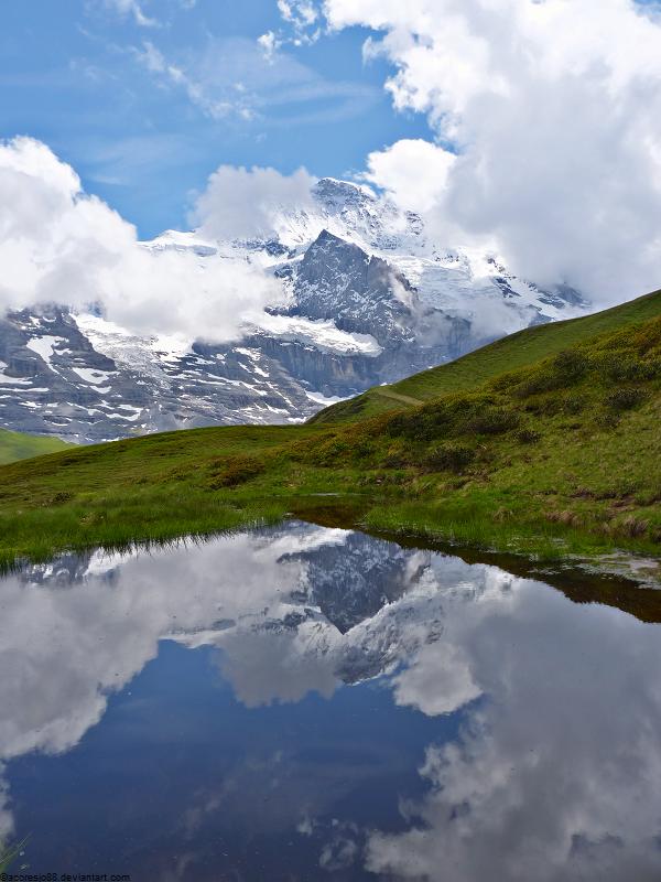 Jungfrau reflected by acoresjo88