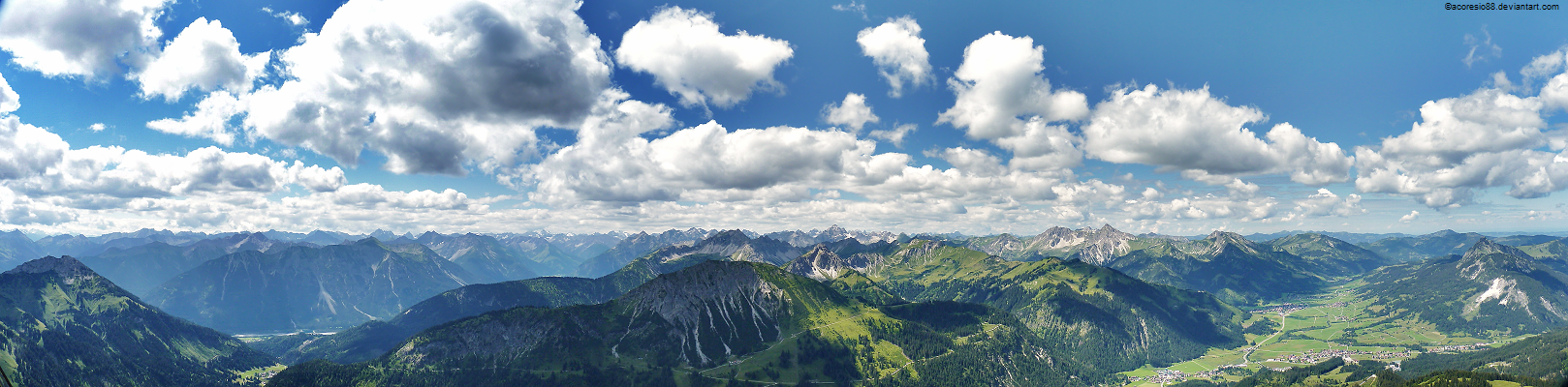 Allgaeu Alps panoramic by acoresjo88