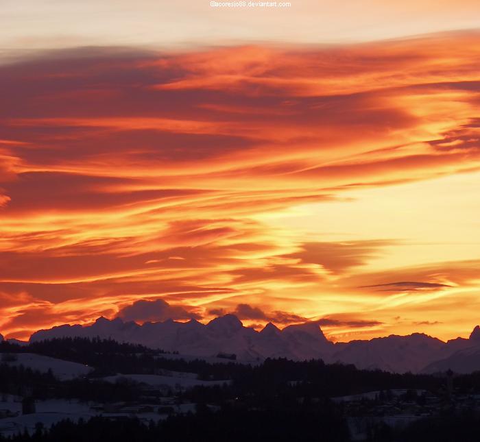 Golden sunset by acoresjo88