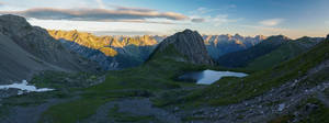 First sunlight on lake Kogelsee