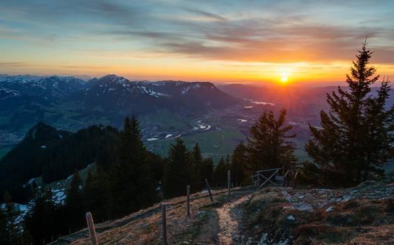Gruenten early spring sunrise