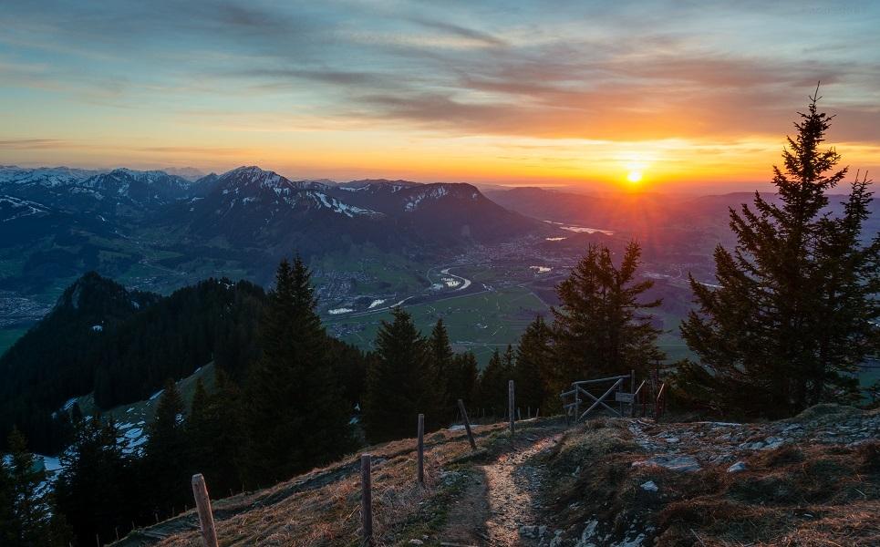 Gruenten early spring sunrise by acoresjo88