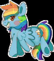 Rainbow Dash Pixel by Xishka