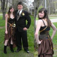 Steampunk Prom by dragonariaes