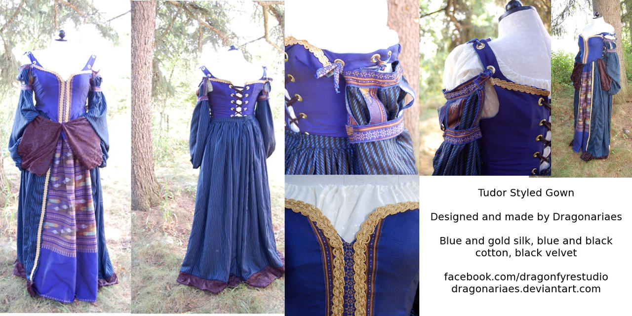 Tudor silk and cotton gown by dragonariaes