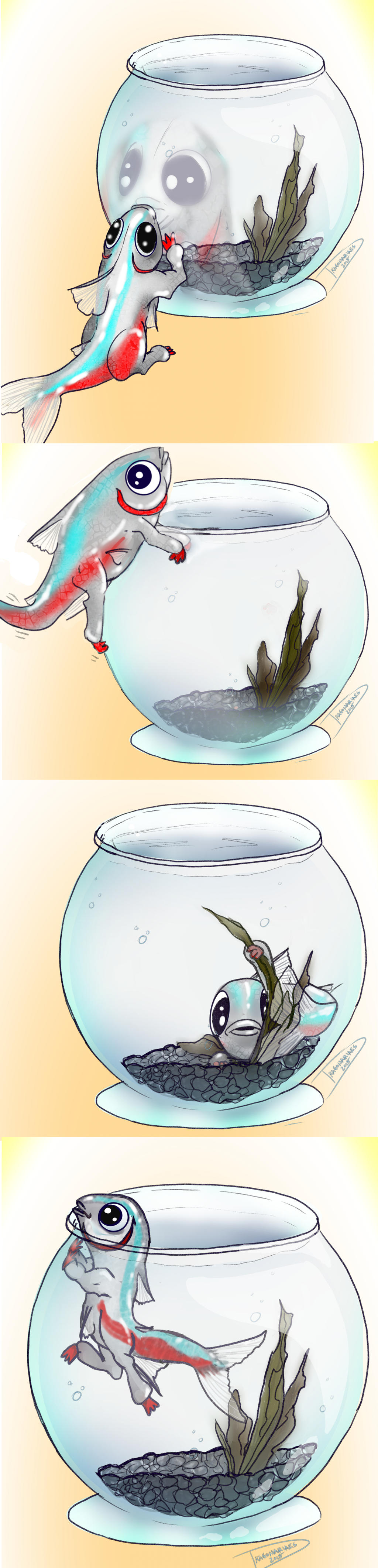 Cuddles Gets a Bowl by dragonariaes