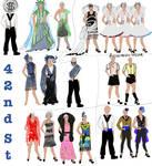 Costume plot 42nd street by dragonariaes