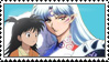 Sesshomaru and Rin fan stamp by charry-photos