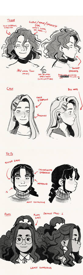 [OC] face refs that i spent way too much time on