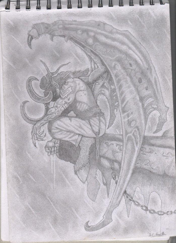 Illidan sketch by Samo94