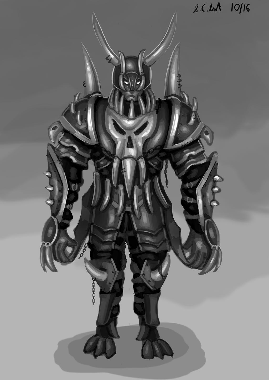 Half demon warrior by Samo94