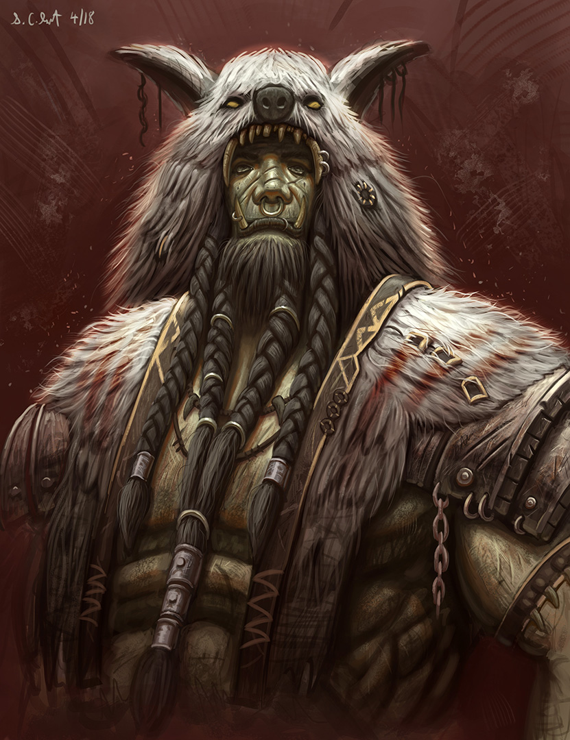 Orc shaman Painting by Samo94