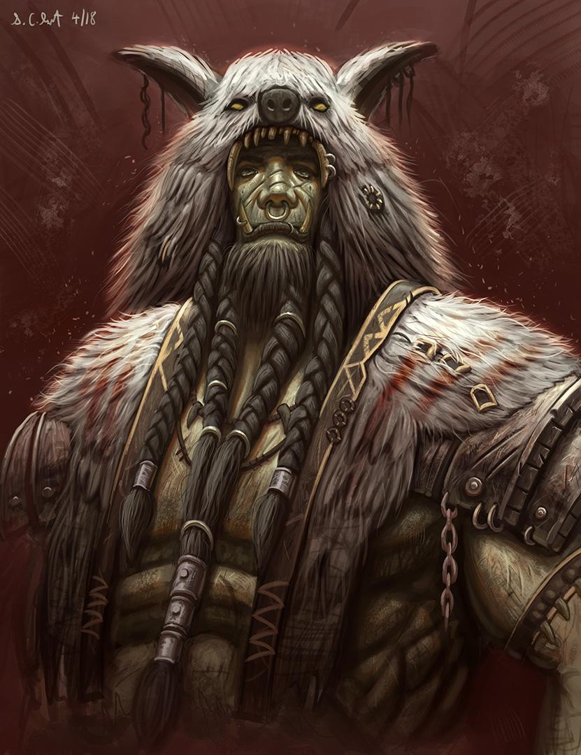 warcraft orc shaman art