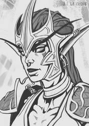 Night Elf Huntress by Samo94