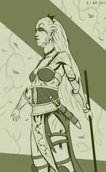 Wood Elf Wardancer! by Samo94