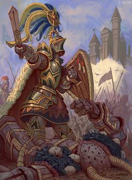 For Myrmidia! Knight of the Blazing Sun