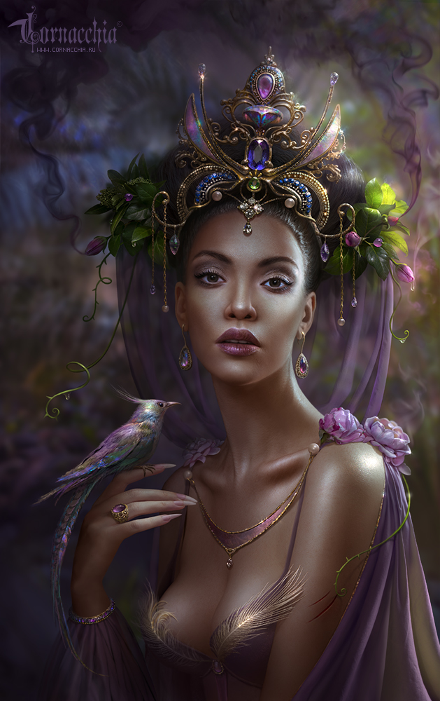Khabiba, The Jungle Princess by cornacchia-art