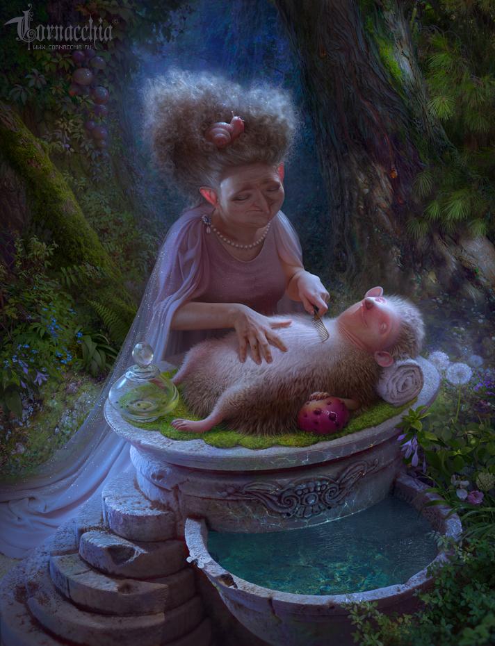 Hedgehog Spa by cornacchia-art