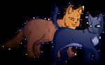 Lionblaze and Cinderheart