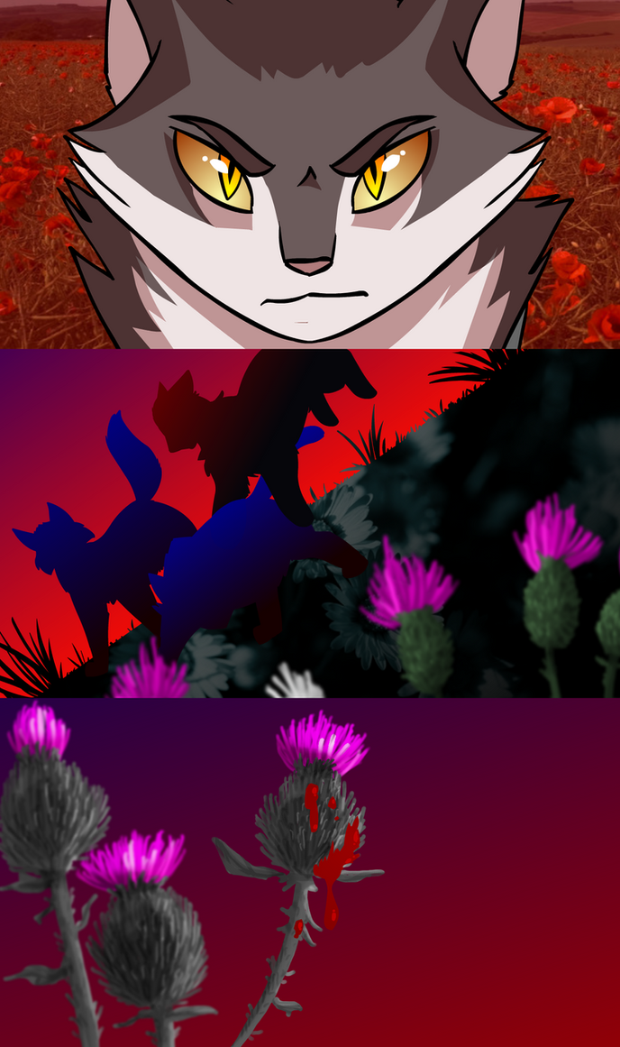 thistles and weeds by colacatinthehat on deviantart