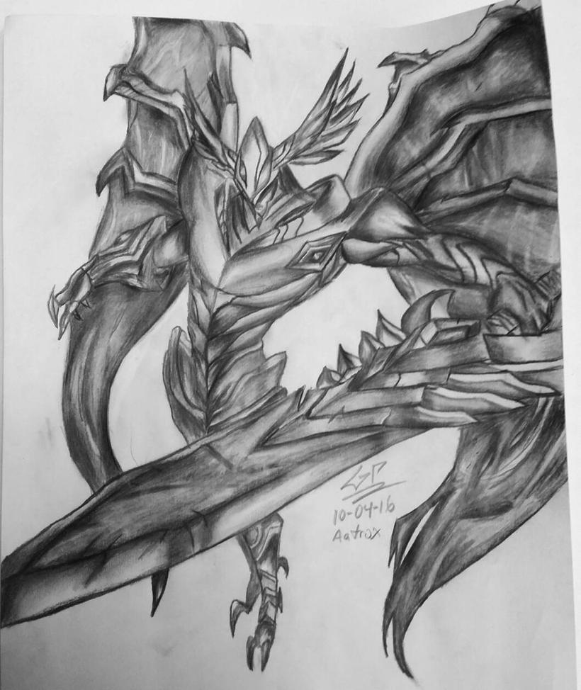 Aatrox - league of legends - drawing by anali218 on DeviantArt