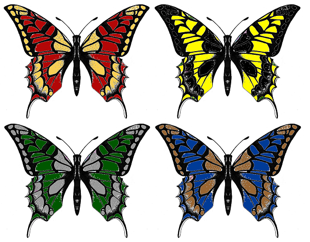 Hogwarts Butterflies by brandi3981