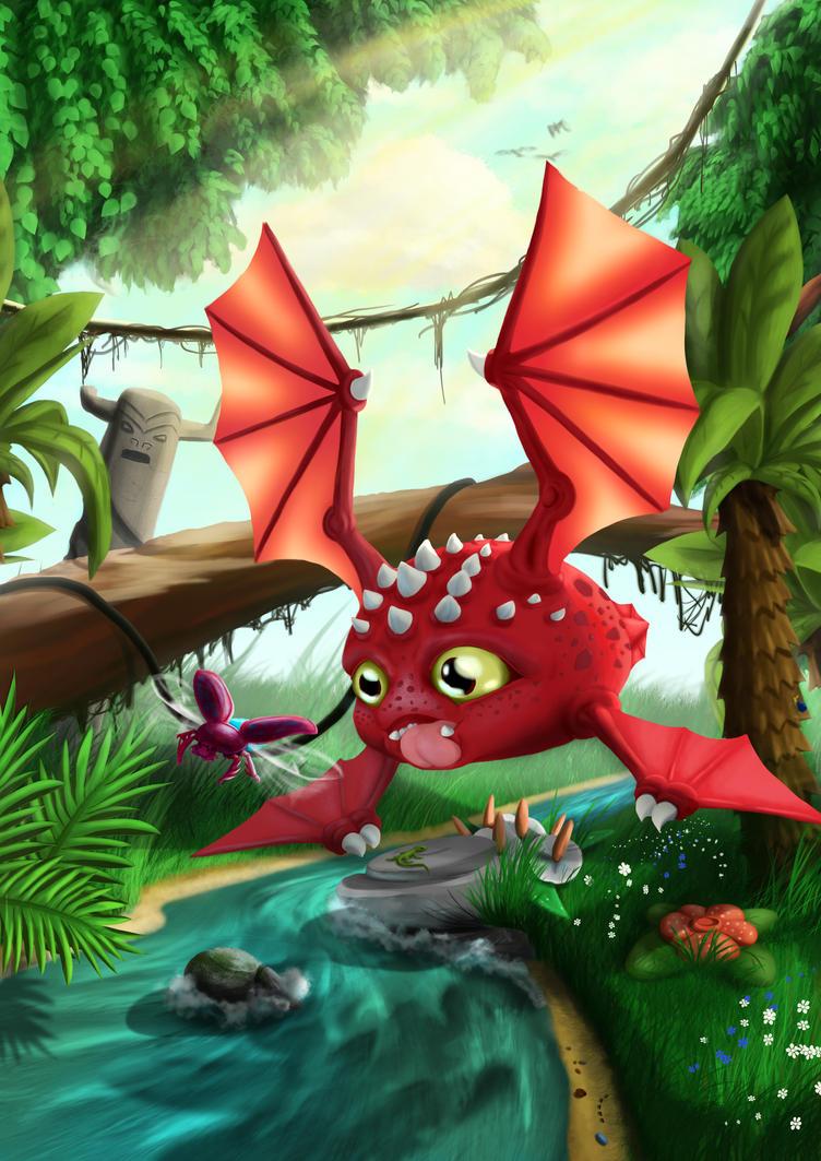 dragon from jungle by kuuvalas