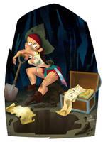 Pirate Treasure by jfsouzatoons